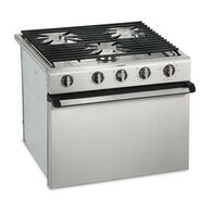 "Dometic R31 17"" 3-Burner Oven Range, Stainless Steel, Wire Grate"