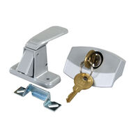 JR Products Locking Camper Door Latch with Keys, Silver