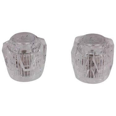 Faucets Acrylic Knob-Style Handle Replacement Set, Clear