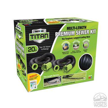 Thetford Titan Multi-length Premium Sewer Hose Kit, 20'
