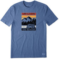 Life Is Good Men's Go Places Short-Sleeve Crusher Tee