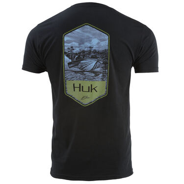 HUK Men's Bass Boat Shield Short-Sleeve Tee
