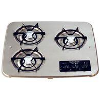 3 Burner Drop-In Cooktop, Stainless top