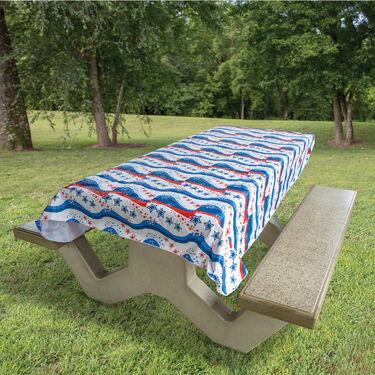 "Star Spangled Tablecloth, 82"" x 54"""