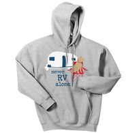 Dog is Good Unisex Never RV Alone Hoodie, XXLarge