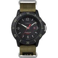 Timex Gallatin Nylon Slip-Thru Watch, Solar Green/Black Dial