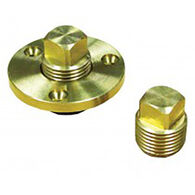 "Replacement Brass Garboard Drain Plug, 1/2"" IPT"