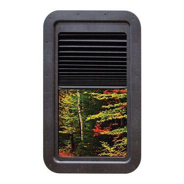 Slim Shade RV Door Window with Built-in Shade, Black