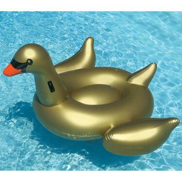 Swimline Giant Golden Goose Ride-On Float