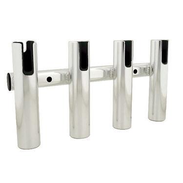 Brushed Aluminum 4-Rod Holder