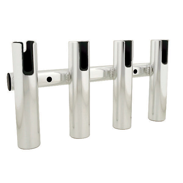 Brushed Aluminum 4-Rod Holder