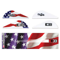Bohning True Color Wrap/Vane Combo Kit, American Flag