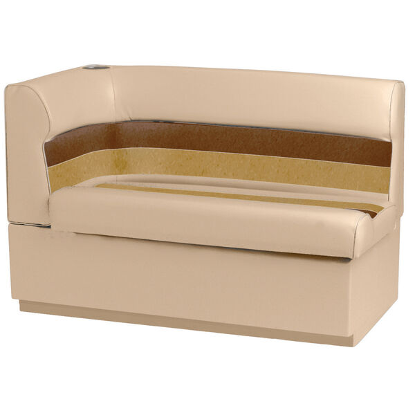 Toonmate Deluxe Pontoon Corner Couch with Toe Kick Base, Right Side, Sand