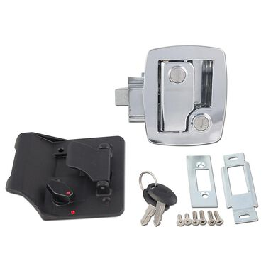 Bauer Travel Trailer Lock with Keys - Chrome