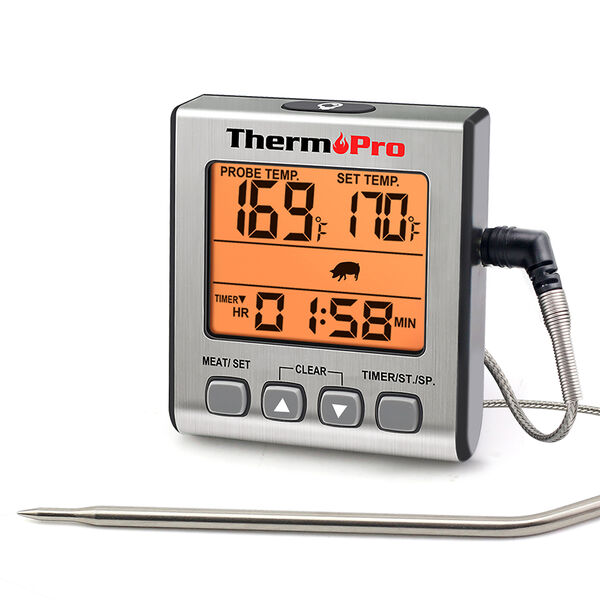 ThermoPro TP16S Digital Meat Thermometer with Smart Timer and Backlight