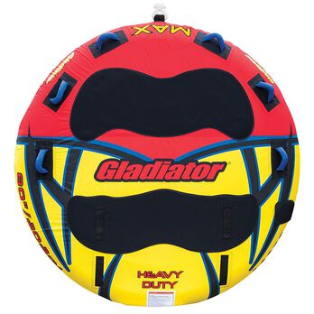 Gladiator Max Deck Rider 3-Person Towable Tube With Lightning Valve