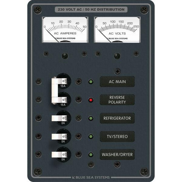 Blue Sea Systems AC Main +3 Positions Panel (European)