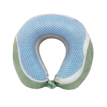 Memory Foam Cooling Gel Travel Pillow, Mint