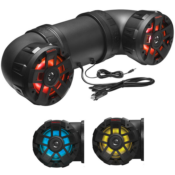 Boss Audio ATV65BRGB Powersports Plug-and-Play Audio System with Built-In Amplifier
