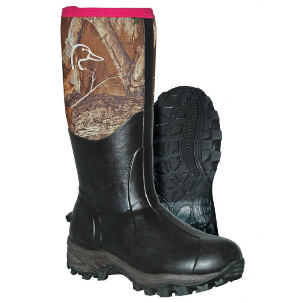 """Ducks Unlimited Women's Artemis 13"""" 400g Insulated Hunting Boot, Realtree Edge Camo"""