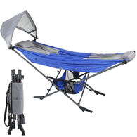 Mock ONE Portable Folding Hammock, Blue/Gray