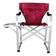 Folding Director's Chair with Side Table, Burgundy