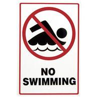 """No Swimming"" Sign"