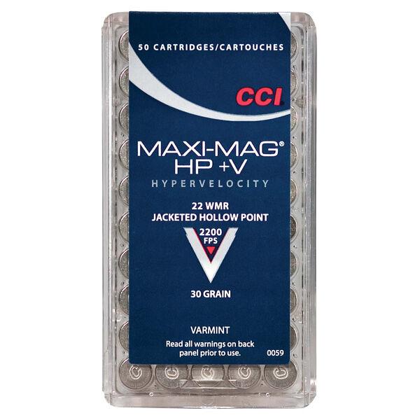 CCI Maxi Mag +V Varmint Ammo, .22 Win Mag, 30-gr., JHP