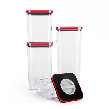 Neoflam Pantry Canister with Smart Seal Lid, 4-Piece Set