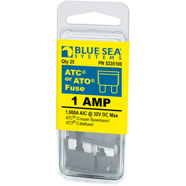 Blue Sea Systems ATO/ATC 1A Fuse (25 Pack)