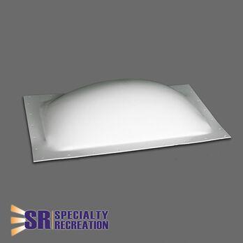 "RV Skylight, Thermoformed Polycarbonate, 16"" x 26"", White"