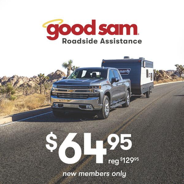 1 Year Good Sam RV Roadside Assistance $64.95
