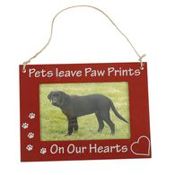 """Pet Picture Frame, Hanging, 6"""" x 8"""", Brown Pets On Our Hearts"""