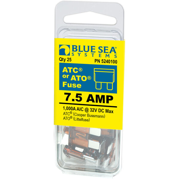 Blue Sea Systems 7.5A ATO/ATC Fuse (25 Pack)
