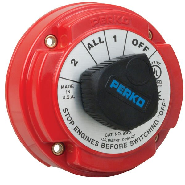 Perko Battery Selector Switch With AFD