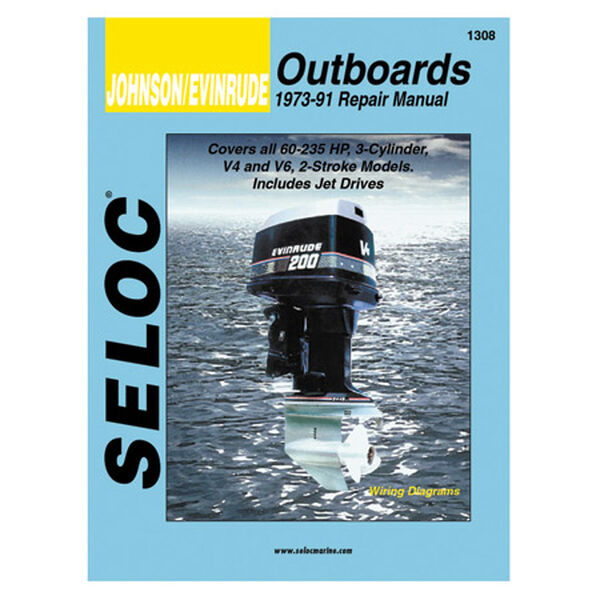 Seloc Marine Outboard Repair Manual for Johnson/Evinrude '73 - '91
