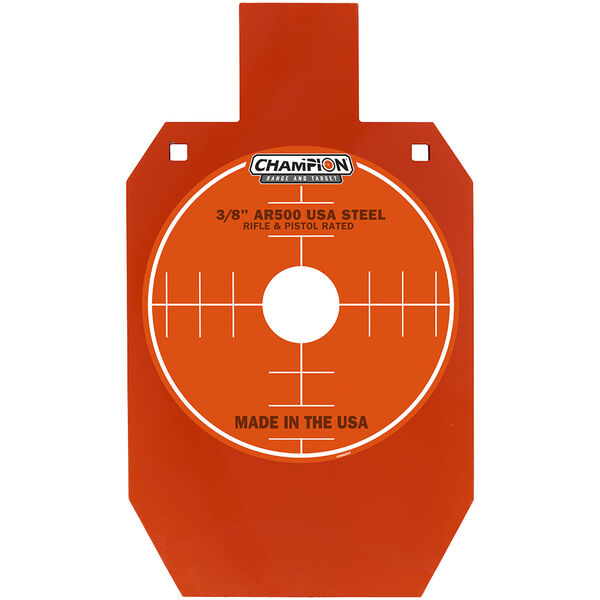 "Champion Targets Center Mass 3/8"" 66% IPSC Silhouette AR500 Steel Target"