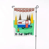 Welcome To Our Camper Garden Flag