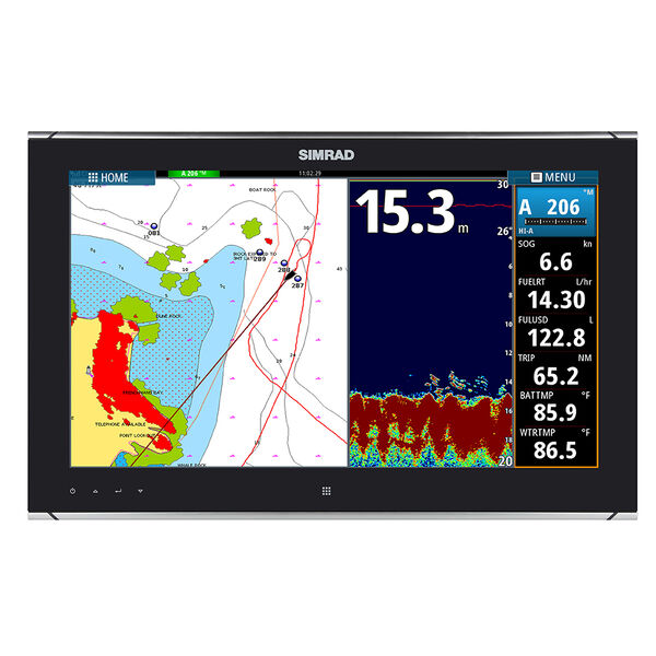 "Simrad MO19-T 19"" Widescreen High Bright, Multi-Touch Monitor"