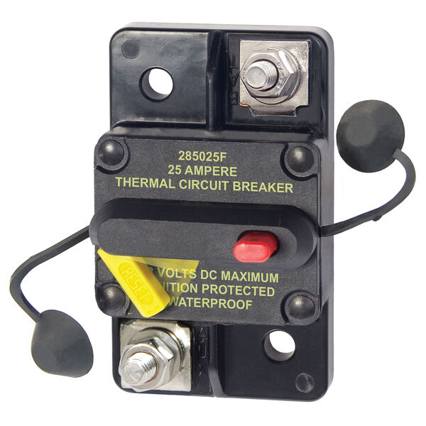 Blue Sea Systems 285 Series Circuit Breaker, Surface Mount, 25 Amp