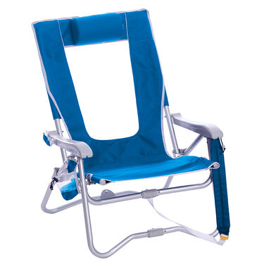 GCI Outdoor Bi-Fold Beach Chair, Saybrook Blue
