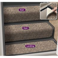 "Decorian Step Hugger Landing Rug, 10"", Peppercorn"
