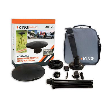 KING OmniGo Portable Omnidirectional Over-The-Air HDTV Antenna, Black