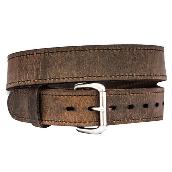 Versacarry Distreassed Brown Double Ply Leather Belt, 44""