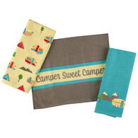 3-Piece Sweet Camper Dish Towel Set