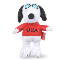 Patriotic Snoopy with USA Sweater Plush Squeaky Dog Toy