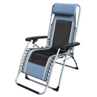 Caravan Sports Infinity OG Lounger Cool Mesh With Carry Strap Outdoor Recliner, Blue/Gray