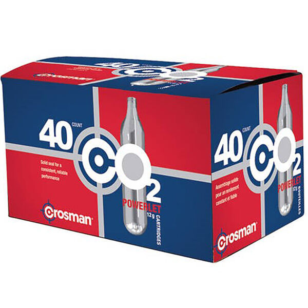 Crosman C02 Powerlet Cartridges, 40 ct.