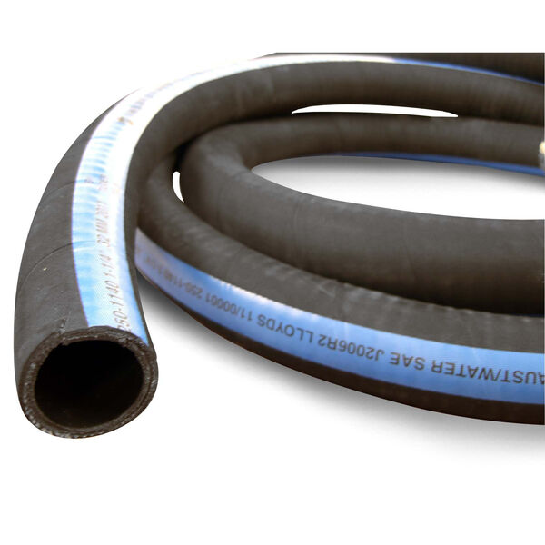 "Shields ShieldsFlex II 1-5/16"" Water/Exhaust Hose With Wire, 12-1/2'L"