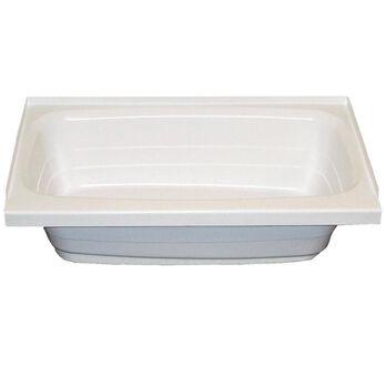 """24"""" x 40"""" LH Drain Tub - White"""